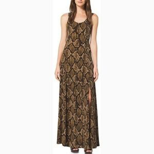 Michael Kors Snakeskin Print Maxi Dress